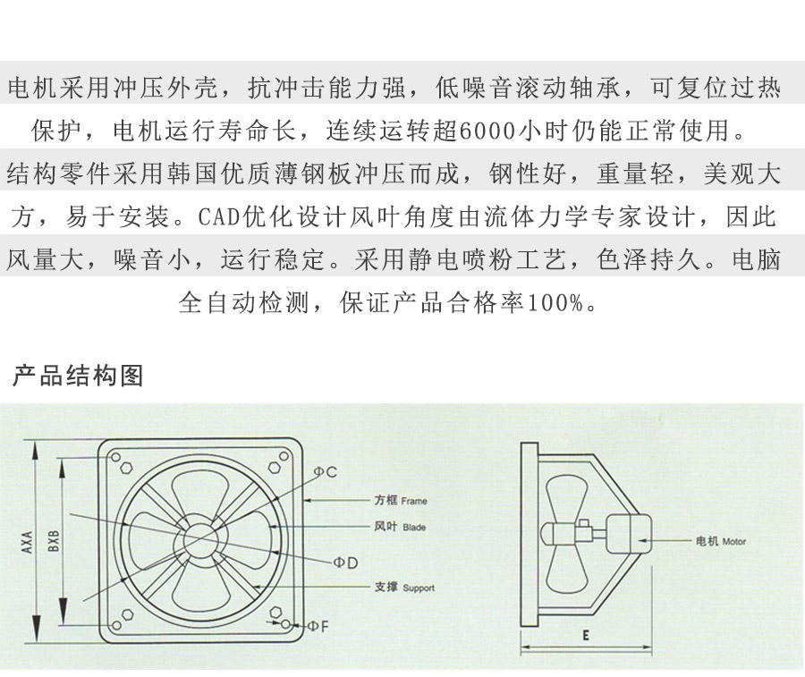 FAD40-4-单相型号电机安装和尺寸与外形尺寸图7