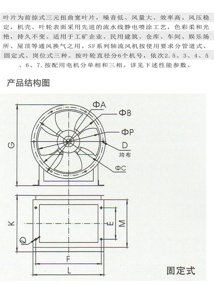 SF6#三相岗位式型号电机安装和尺寸与外形尺寸图7