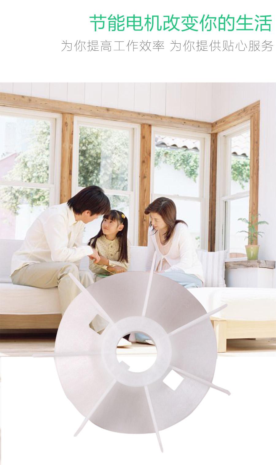 YS63风叶型号电机安装和尺寸与外形尺寸图2
