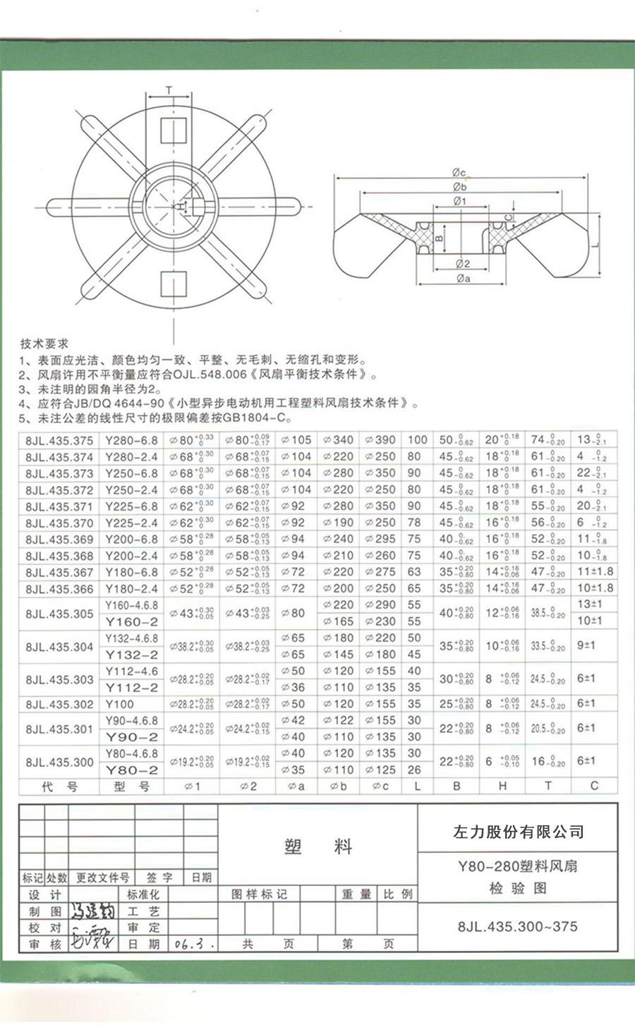 YS63风叶型号电机安装和尺寸与外形尺寸图8