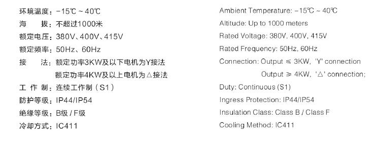 YD-132S-4/2-4电机技术特点/使用条件/代号说明图1