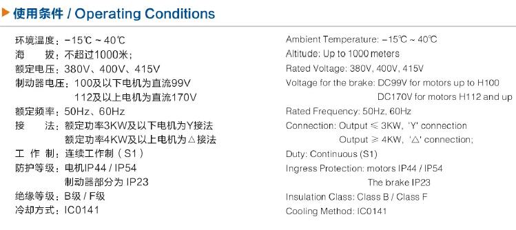 YEJ100L-6电机技术特点/使用条件/代号说明图1